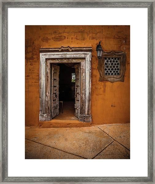 Portal Framed Print by Carl Chick