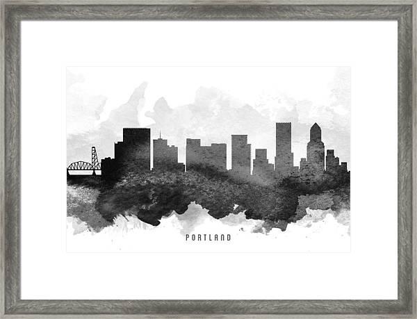 Portland Cityscape 11 Framed Print