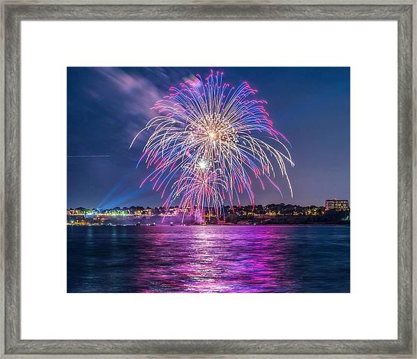 Portland Fireworks II Framed Print