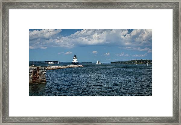 Portland Harbor, Maine Framed Print