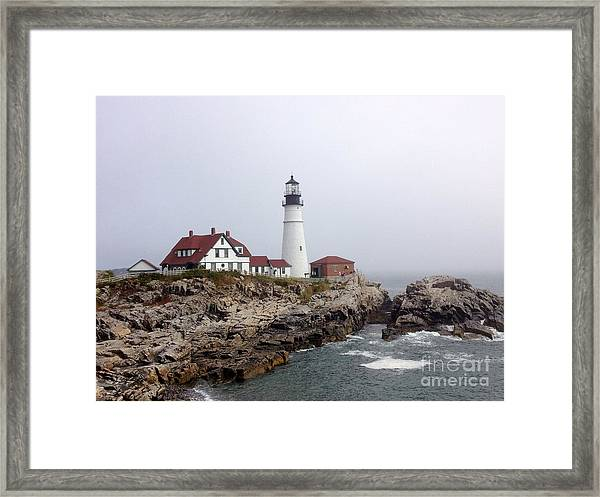 Framed Print featuring the photograph Portland Head Light by Barbara Von Pagel