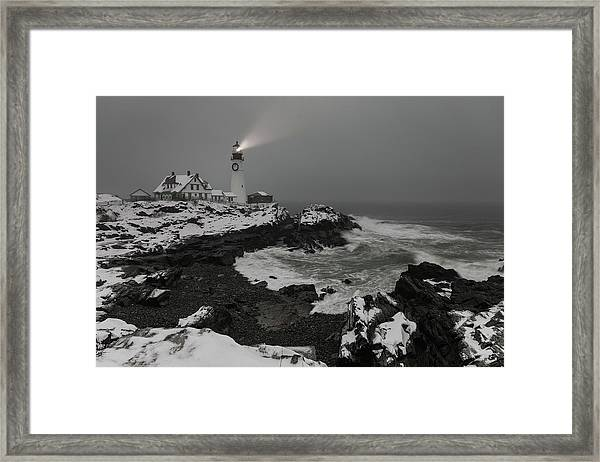 Portland Head Light Beacon  Framed Print