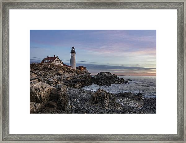 Portland Head Light December 2015 Framed Print