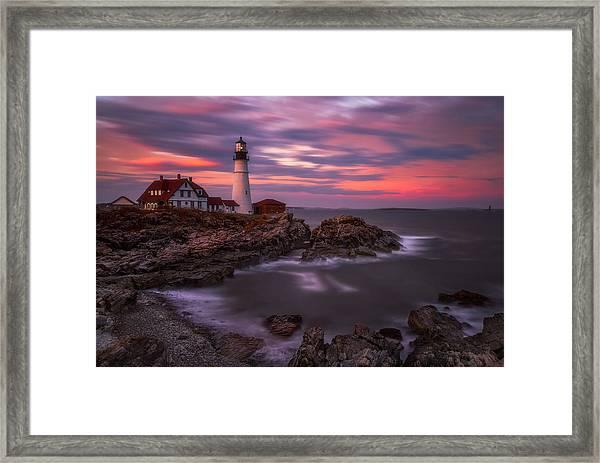 Portland Head Sunset Framed Print