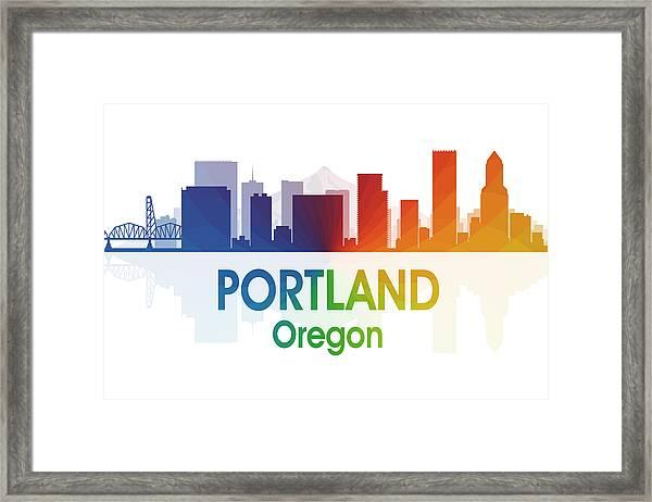 Portland Or Framed Print