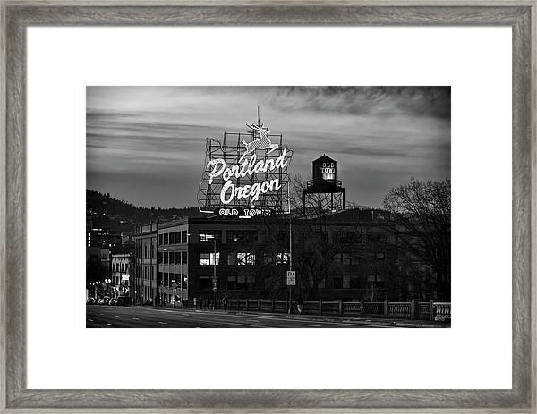 Portland Signs Framed Print