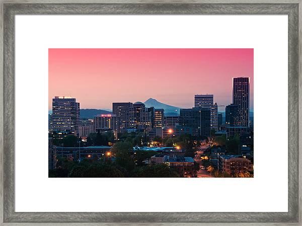Portland Sunrise Framed Print