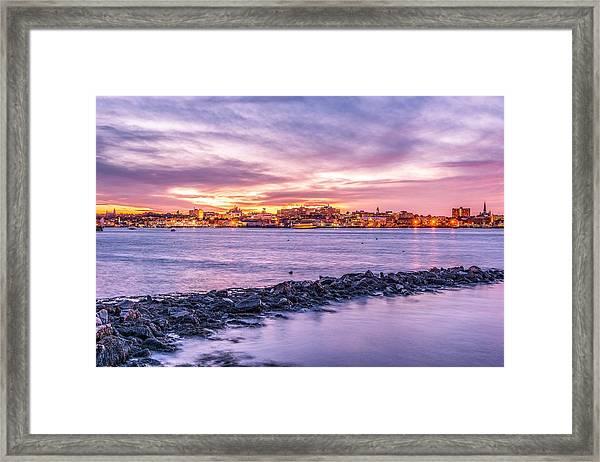 Portland Sunset IIi Framed Print