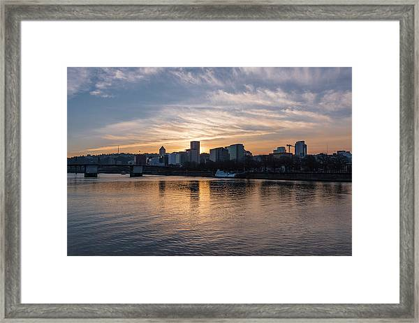 Portland Sunset Framed Print
