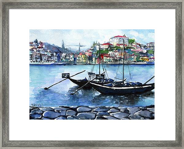 Porto Rabelo Boats Framed Print