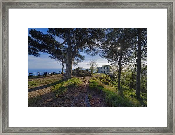 The House Of The Rising Sun In Portofino Framed Print