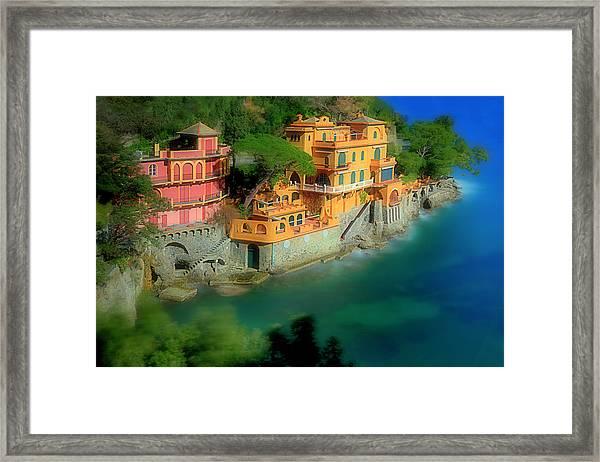 Portofino Park Bay Framed Print