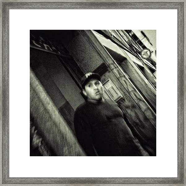 #portrait #blackandwhite Framed Print