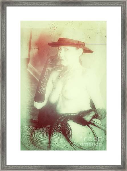 Portrait In Whiplash Framed Print by ManDig Studios