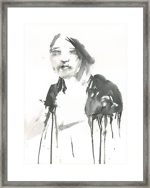 Portrait Of A Singer Framed Print