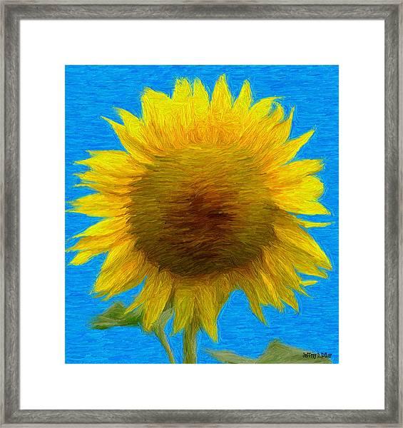 Portrait Of A Sunflower Framed Print