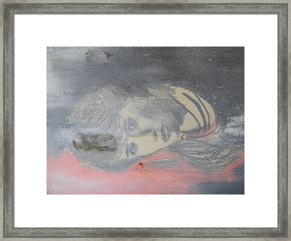 Portrait Of A Theatre Actress Framed Print