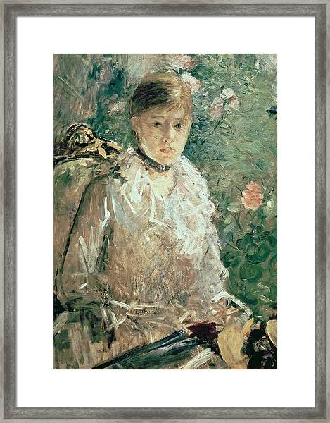 Portrait Of A Young Lady Framed Print