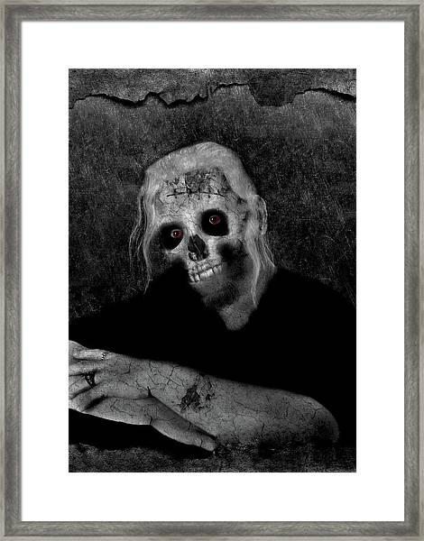Portrait Of A Zombie Framed Print