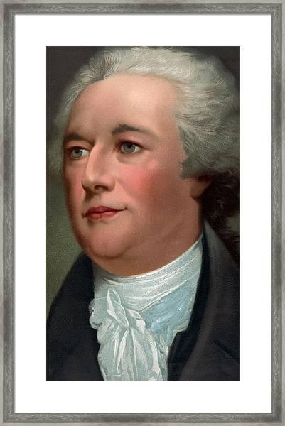 Portrait Of Alexander Hamilton Framed Print
