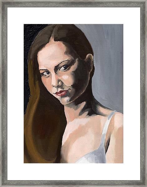 Portrait Of Amanda Framed Print