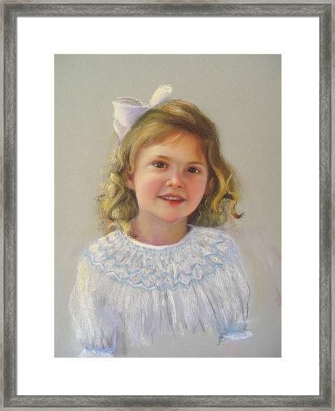 Portrait Of Amy Framed Print by Melanie Miller Longshore