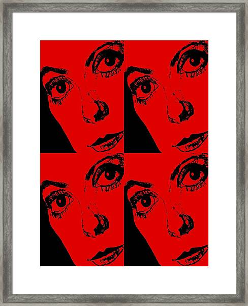 Portrait Of Catherine Pop Art Design Framed Print