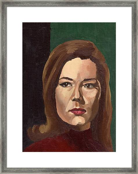 Portrait Of Diana  Framed Print by Stephen Panoushek