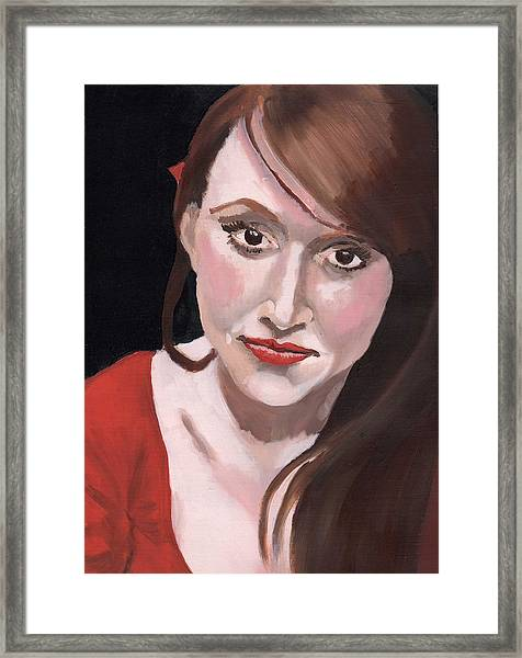 Portrait Of Howley Framed Print by Stephen Panoushek