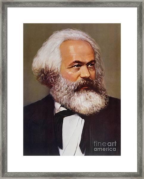 Portrait Of Karl Marx Framed Print