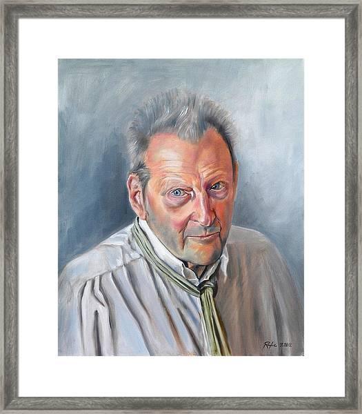 Portrait Of Lucian Freud Framed Print