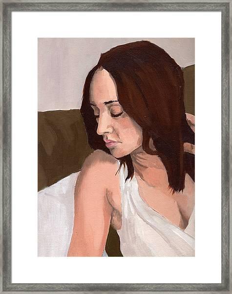 Portrait Of Nikitah Framed Print by Stephen Panoushek
