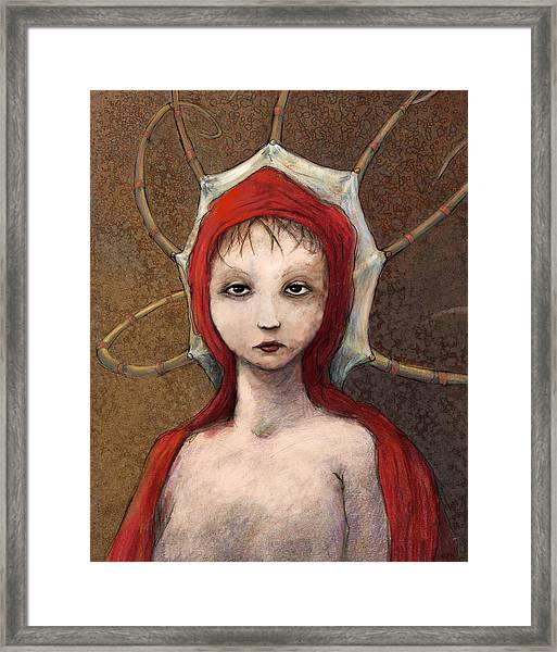 Portrait Of Octavia Framed Print by Ethan Harris
