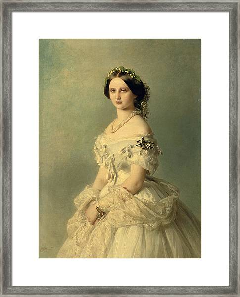 Portrait Of Princess Of Baden Framed Print