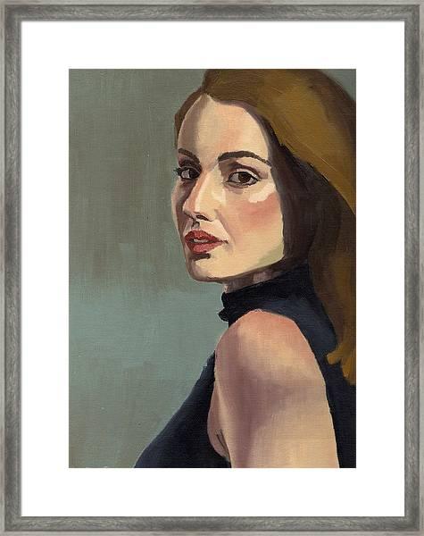 Portrait Of Rachel Christine Framed Print