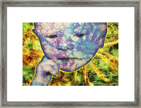 Portrait Of The Artist As A Young Baby Framed Print