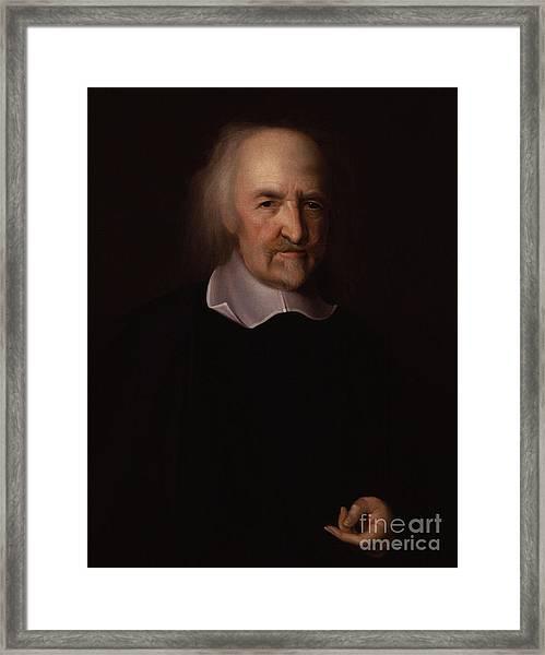 Portrait Of Thomas Hobbes Framed Print
