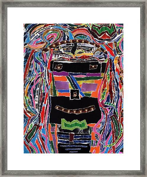 portrait of who   U  Me       or      someone U see  Framed Print