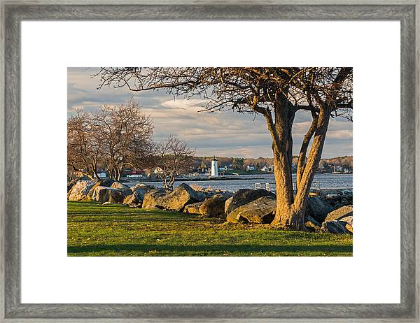 Portsmouth Harbor Light At New Castle Commons Framed Print