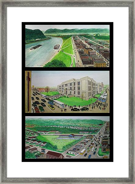 Portsmouth Ohio 1955 Framed Print
