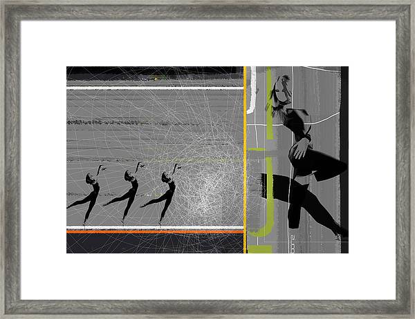 Pose And Jump Framed Print