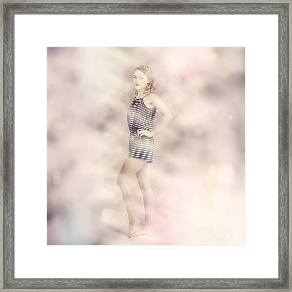 Posh Retro Fashion Pinup Framed Print