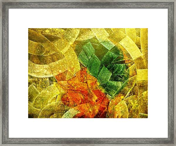 Framed Print featuring the painting Positive Abstract by Ray Khalife