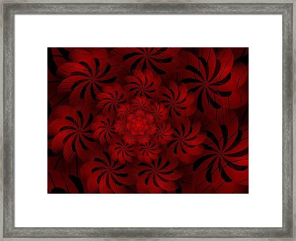 Positively Red Framed Print