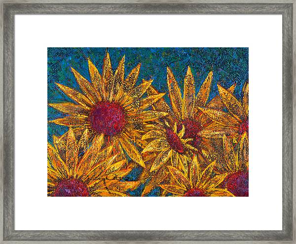 Framed Print featuring the painting Positivity by Oscar Ortiz