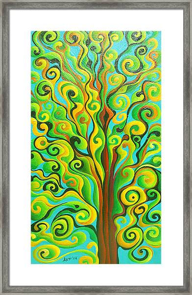 Positronic Spirit Tree Framed Print