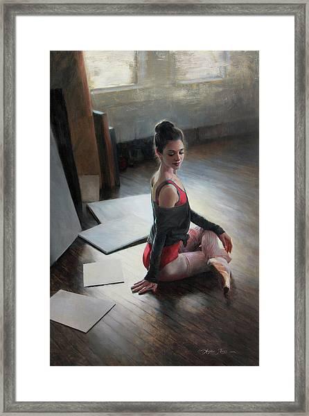 Possibilities Await Framed Print by Anna Rose Bain