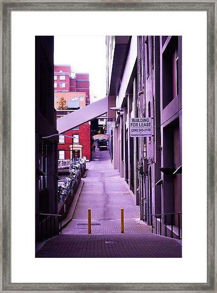 Post Alley, Seattle Framed Print