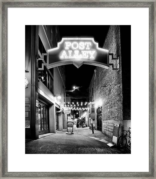 Post Alley Framed Print by Tanya Harrison