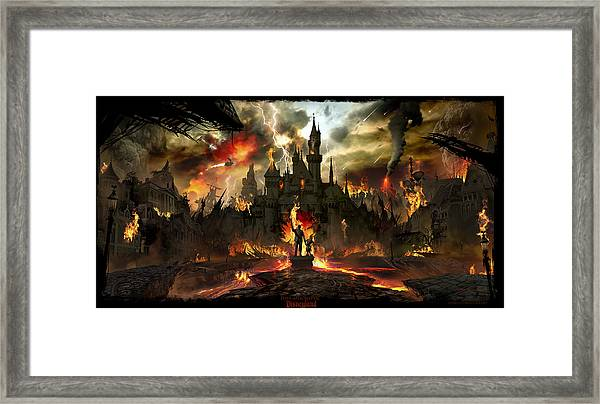 Post Apocalyptic Disneyland Framed Print